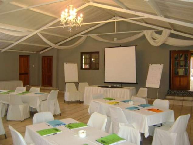 Chandelier Hall Conference Setup